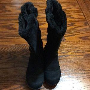 Girls Black Boots Size 2M